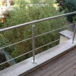 Inox balustrade met horizontale regels