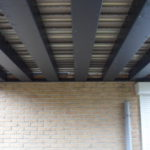 onderkant van aluminium terras