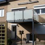 glas balustrade op aluminium terras