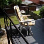 Gelakte balustrade met horizontale regels - Noram