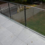 glas in koker balustrade