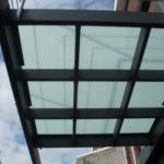 terras aan bel etage met glazen vloer