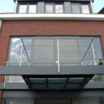 Terras in aluminium aan bel etage
