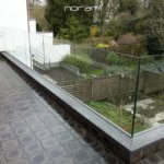 Glas balustrade zonder rand