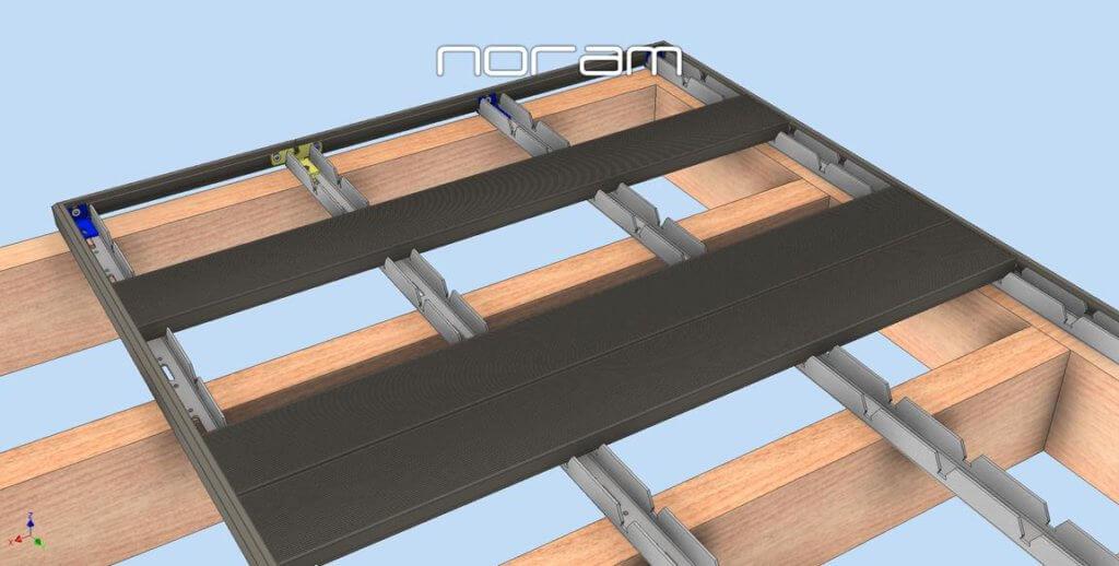 op houten constructie